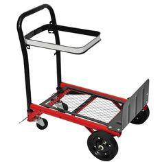 Transformable, ce chariot (4 roues) peut être également utilisé comme diable (2 roues). Sa capacité de chargement est de 70 kg. Construction robuste avec 4 roues,Avec arceau de support pour sacs (sacs poubelle pas exemple).Le chariot peut être démonté en quelques étapes faciles, et est facilement transportable , (dans le coffre de votre voiture par exemple). Pratique, facile à manipuler et pliable, Idéal pour le transport dans le bureau et l'atelier, etc.