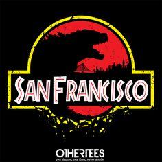 San Francisco by JBaz Shirt on sale until 15 April on http://othertees.com #godzilla