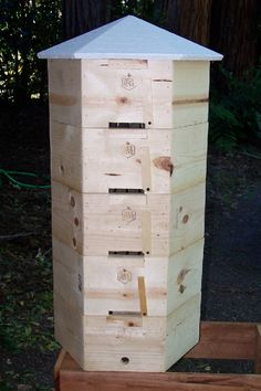 Hex Hive® is a sculptural piece of garden art as well as a functional bee hive.