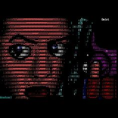 """24 Likes, 1 Comments - Mistigris computer arts (@mistfunk) on Instagram: """"Mistigram: #ASCIIart illustration drawn by Dead Soul in promotion of (or for use in?) Quip's #Omlet…"""""""