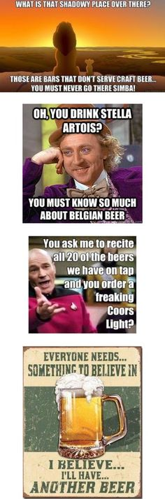 Hollywood Fun Beer Memes