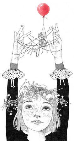 """""""My Childhood"""" : Illustrations by Sveta Dorosheva #illustration #drawing"""