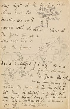 """She describes branches as """"quite covered with chickens.""""   11 Reasons Beatrix Potter Was The Most Charming Pen Pal Ever"""