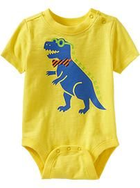 Animal-Graphic Bodysuits for Baby