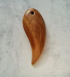 Wood necklaceFangWood PendantWood JewelryWooden от CraftsMWL