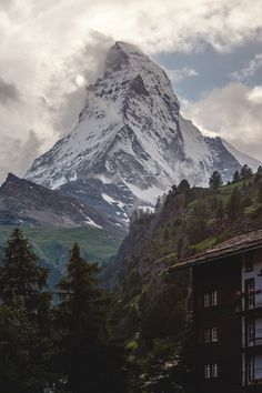 Matterhorn, Swiss... Zermatt is a favorite spot... it has such unique charm & the views are breathtaking.