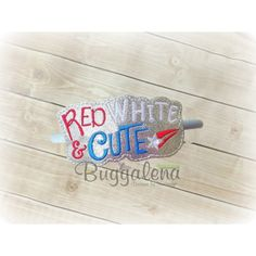Red White and Cute BuggaBand Design
