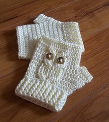 Childrens crochet - texting gloves