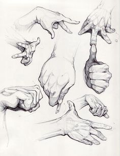 A glamorous fuck-ton of hand references. [From various sources]