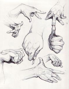 dibujar las manos con sombras