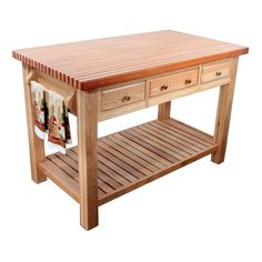 Kitchen prep table and wooden furniture house interior Kitchen Prep Table, Kitchen Work Tables, Kitchen Island Table, Kitchen Cart, Butcher Block Tables, Butcher Block Kitchen, Cute Furniture, Kitchen Furniture, Wooden Furniture