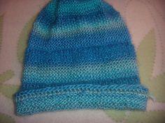 chapeau tricot point de mousse creation isafleur