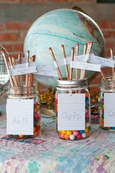 Use pencils as escort cards.                                                                                                                                                                                 More