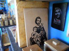Pedra Sobre Pedra - Artesanato em Pedra Cariri: São José e Bob Marley