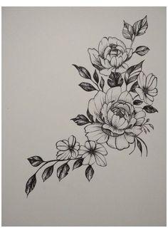 Jasmine Flower Tattoos, Flower Hip Tattoos, Flower Tattoo On Ribs, Flower Tattoo Drawings, Flower Tattoo Shoulder, Small Tattoos, Neue Tattoos, Body Art Tattoos, Sleeve Tattoos