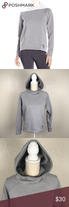 Lucy Activewear Lux Fleece Hoodie Lucy size small fleece hoodie. Light grey color. Chest is about 19.5 in across, it's about 22.5 in long in the front and about 25 in long in the back. The sleeve is about 27.5 in long. A little bit of minor piling. Lucy Tops Sweatshirts & Hoodies