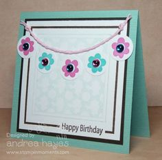 Flower Banner by stampinandrea - Cards and Paper Crafts at Splitcoaststampers