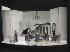 Stage model for the #clevelandplayhouse production of The Little Foxes. Showing from September 12th - October 5th 2014 at the Allen Theatre. #art #design