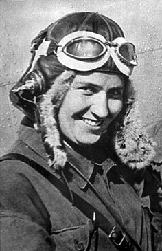 Marina Raskova, who formed the Soviets' first all-female military flying organization, is pictured before the war.