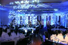 Winter wonderland theme party Transform large areas with high end moving head lighting, up-lights and lighting effects