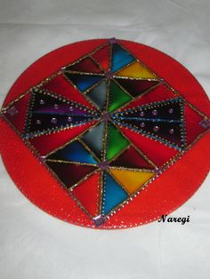 """Cores ... muitas cores..."" (Naregi Mandalas Vitrais)"