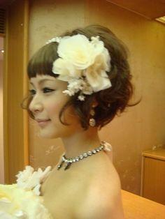 【結婚式ヘアメイク】 ショートカットの花嫁 の画像|☆yanの七転び八起き日記☆