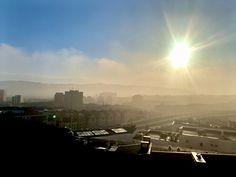 Bilbao, Airplane View, Dawn