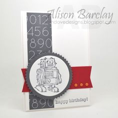 Gothdove Designs - Alison Barclay - Stampin' Up! Australia - NEW Schoolhouse DSP - Boys Will Be Boys stamp set #colorcoach #stampinup #robot #gothdovedesigns