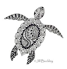 Turtle-mandala-zentangle-coloring-picture
