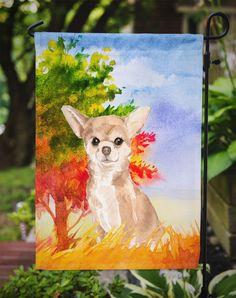 Fall Chihuahua Flag Garden Size CK1948GF