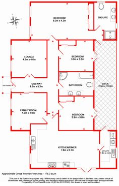 Enhanced Layout - 3 Bedroom - 176 sq.m - FloorPlans24 delivers a solution that works for YOU – Talk to us…