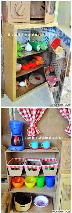 EL MUNDO DEL RECICLAJE: Recicla cartón y haz una cocina de juguete