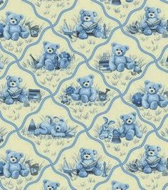 Nursery Fabric-Toys & Stars Blue, , hi-res Print Wallpaper, Fabric Wallpaper, Wallpaper Backgrounds, Wallpapers, Baby Scrapbook, Scrapbook Paper, Nursery Fabric, Shabby Chic Crafts, Fabric Toys