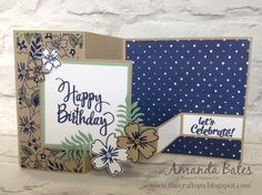 The Craft Spa - Stampin' Up! UK independent demonstrator : Double Z Fold Panel Card Tutorial
