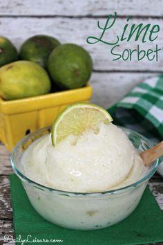 Lime Sorbet Recipe.