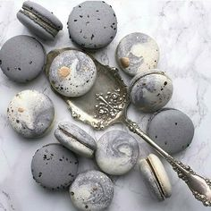 grey macarons