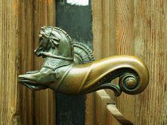 Door Knob, Horse, Metal, Sculpture