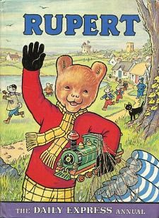 Rupert: the daily express annual- 1976 by Alfred Bestall 1970s Childhood, My Childhood Memories, Childhood Toys, Paddington Bear, Vintage Children's Books, Vintage Stuff, My Memory, Book Illustration, Childrens Books