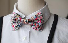 MERLIN Fashion Hot Bowtie,Basic Style with Inventive design,Red and Blue  Triangle printing, Bow Tie or Hair Bow on Etsy, $20.99