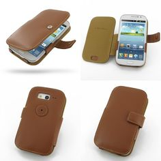 PDair Leather Case for Samsung Galaxy Grand Duos GT-i9082 GT-i9080 - Book Type (Brown)
