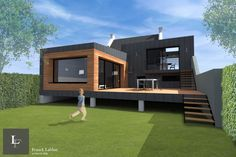 Album - Maison BL-Extension of a town house from the . - Album – Maison BL-Extension of a town house from the – Franck LABB - Building A Container Home, Container House Plans, Container House Design, Small House Design, Modern House Design, Building Design, Building A House, Shipping Container Home Designs, Casas Containers
