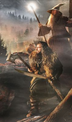 Thorin Oakenshield and Gandalf