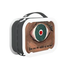 APPLE OF MY EYE ~ LUNCHBOX  Please do NOT hesitate to contact me if you would like any of my designs on a specific product. (AKA: Artmatrix!) Follow John Ocasio, the Artmatrix, on facebook: https://www.facebook.com/John.Ocasio.Artist Original paintings can be found for sale through my Amazon store at: http://www.amazon.com/shops/artmatrix Zazzle designs: http://www.zazzle.com/thewhippingpost?rf=238063263784323237