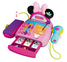 Pink Disney Minnie Mouse Bow tique Cash Register Pretend Shopping Till Set NEW Little Girl Toys, Baby Girl Toys, Toys For Girls, Gifts For Girls, Kids Toys, Toddler Toys, Minnie Mouse Toys, Princess Toys, Baby Doll Accessories