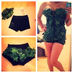 Finished poison ivy costume !