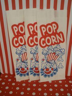vintage inspired popcorn bags
