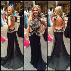 sexy prom dress, black prom dress, chiffon prom dress, cheap prom dress, prom dress 2015