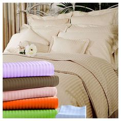 "6 PC Round Bed Sheet Set 14/"" Deep Pocket All Colors Size 1000 TC Egyptian Cotton"