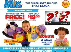 PillowStacks are stackable pillows for kids.