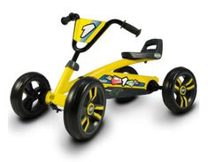 Buzzy Pedal Go Kart. Four-Wheeled Pedal Go Kart With Whisper-Quiet EVA Tires. This Pedal Kart Is Colored Yellow With Black Trim. Adjustable Handlebar And Seat. Go Kart, Lowrider, Tricycle, Ideas Para Inventos, Bobby Car, Karts, Bicycle Shop, Four Wheelers, Cars